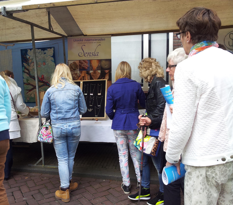 Zilverdag Schoonhoven 2015, Sensla naamkettingen, waterfall oorhangers